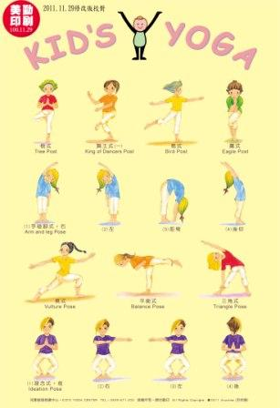 Yoga Poses For Kids Poster